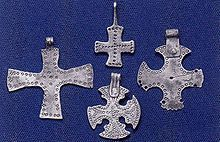 Silver crosses from women's graves in Birka from the 10th century