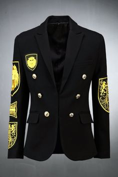 Gold Double Button Jacket