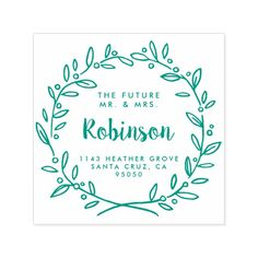 Custom Future Mr. & Mrs. Return Address Wedding Self-inking Stamp Custom Office Party #office #partyplanning