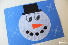 Coffee Filter Crafts for Kids: Coffee Filter Snowman Craft - Look! We're Learning! Winter Art Projects, Winter Crafts For Kids, Crafts For Kids To Make, Craft Activities For Kids, Craft Ideas, Winter Activities, Spring Crafts, Coffee Filter Art, Coffee Filter Crafts