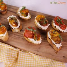 Roasted Tomato Crostini by Michael Symon! #TheChew #Appetizer