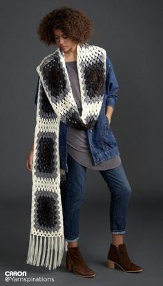 Super Granny Crochet Scarf Super Scarf - Patterns   Yarnspirations