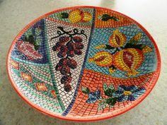 Italian Mosaic Fruit Bowl 19601970 by ThroughTheRedDoor on Etsy, $98.00