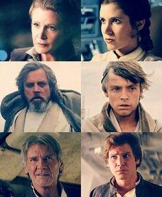 Leia, Luke and Han