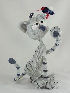 Amigurumi Crochet Kit le Chat jouet poupée hochet(China)