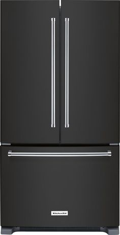 kitchenaid 20 cu ft french door black stainless