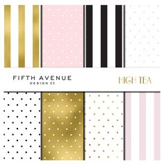 High Tea - Digital Paper by Fifth Avenue Design Co. on @creativemarket