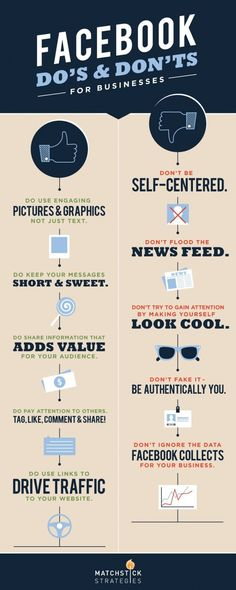 Facebook DO's & DONT's for Businesses #infografia #infographic #socialmedia