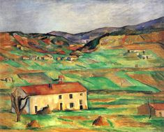 'Around Gardanne' by Paul Cezanne Painting Print Art Plaza Cezanne Art, Paul Cezanne Paintings, Caravaggio, Henri Matisse, Landscape Art, Landscape Paintings, Paul Gauguin, Art Mural, Claude Monet