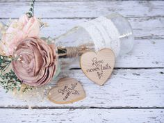 Love Never Fails Wood Heart Magnet Rustic Wedding by PNZdesigns, $57.50