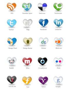 iconos redes sociales corazón