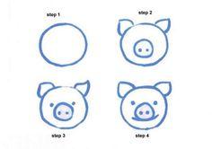 drawing,preschool,drawing for kids,drawing tutorial,first grade Drawing Samples Easy Preschool 2019 - Malvorlage Drawing Lessons For Kids, Drawing For Beginners, Art Lessons, Easy Drawing Steps, Step By Step Drawing, Drawing Tips, Easy Animal Drawings, Cartoon Drawings, Easy Drawings