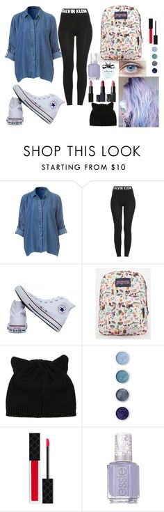 """School In Fashion"" by queenalisa on Polyvore featuring Calvin Klein, Converse, JanSport, Terre Mère, Gucci, Essie and Kate Spade"