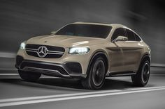 Melding the sleek lines of a coupe with the ruggedness of an SUV, the Mercedes-Benz Concept GLC Coupe is a design study that could easily be rolling off the line. Its 367hp V6 powerplant is hooked to a nine-speed automatic...