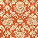 1 yardJoel Dewberry Aviary 2 Damask in Saffron by LellaBoutique, $8.00 Holy crude I'm loving this tone and decoration.