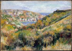 Hills around the Bay of Moulin Huet, Guernsey Artist: Auguste Renoir (French, Limoges 1841–1919 Cagnes-sur-Mer) Date: 1883