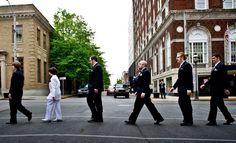 Beatles inspired wedding photo