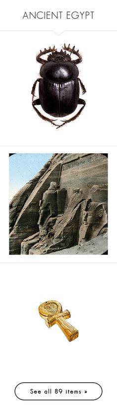 """""""ANCIENT EGYPT"""" by theindigochild ❤ liked on Polyvore featuring bugs, fillers, egypt, backgrounds, accessories, decor, egyptian, home, home decor and office accessories"""