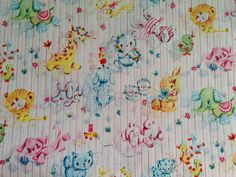 Vintage Gift Wrapping Paper  Animal Baby by TheGOOSEandTheHOUND