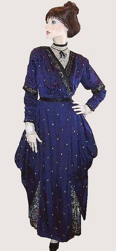 1910 Edwardian Dress Pannier Skirt