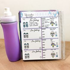 Planner page by designer Tiffany O'Grady using the Sweet Stamp Shop Feeling, Get Physical and Go Get It stamp sets