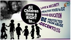 All #Children have a right to.. Love & security, healthy food to eat, good #Education, be protected from #Abuse, a decent place to live. #NGOSofia #Justice