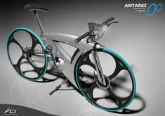 Antares Lift by Hideki Kawata.  Inspired by a tear drop and an orchid leaf, the Antares Lift is a single-speed folding bike.