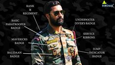 Decoding The Medal and Badges of Major Vihaan Shergill (Vicky Kaushal) P. Indian Army Special Forces, Special Forces Gear, Special Forces Of India, General Knowledge Book, Gernal Knowledge, Indian Army Quotes, Indian Army Slogan, Army Couple Pictures, Indian Police Service
