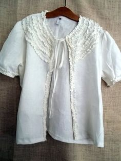 ruffle jacket made to measure s m l xl and plusthe by bayousalvage, $81.00