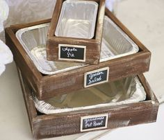 re-use old drawers for potluck meals knobs you can easily design to state name of dish
