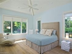 4010 OLD TRAIL, Naples, FL 34103 | Beautiful blue coastal bedroom - restful in Park Shore