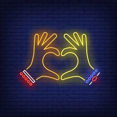 Woman hands showing heart gesture neon sign Free V Funny Phone Wallpaper, Neon Wallpaper, Cute Wallpaper Backgrounds, Cute Wallpapers, New Instagram Logo, Neon Light Art, Neon Signs Quotes, Neon Words, Neon Logo