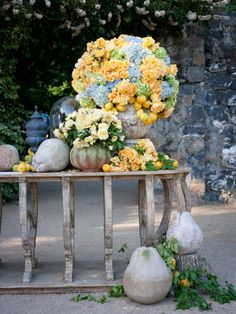 Summer lush - Roses, Hydrangeas, lemons and more in dense profusion