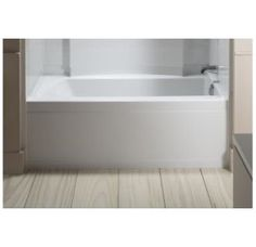 """White 36"""" Standard Bath with Right-hand Drain from the Accord Series"""