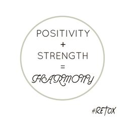 Strive for harmony #RETOX