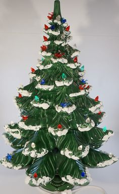 Large Ceramic Christmas Tree We Have One Similar To This That Is At Least 40 Years Old Some Of The Decorations Dissapeared My Mother Has A Hard Time