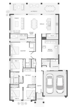 19 4 Bedroom Single Storey House Plans 4 Bedroom Single Storey House Plans - Single storey 4 bedroom house floorplan with additional Single Story House Plans 4 Bedroom Single Floor House Pl. The Plan, How To Plan, Luxury Floor Plans, Home Design Floor Plans, Floor Plan 4 Bedroom, 4 Bedroom House Plans, Garage Floor Plans, House Floor Plans, Best House Plans