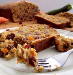 Recipe for Carrot and Zucchini Bread - I was going for ultra moist with this recipe but wasn't feeling the extra fat thing from butter or oil, so I added Greek yogurt instead and WOW – that was a kickass move.