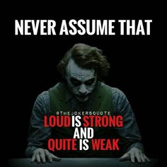Joker is more sensible than batman Dark Quotes, Strong Quotes, Wisdom Quotes, True Quotes, Great Quotes, Quotes To Live By, Positive Quotes, Motivational Quotes, Inspirational Quotes