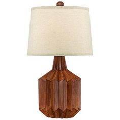 Manitoga Wood Finish Cog Table Lamp 80