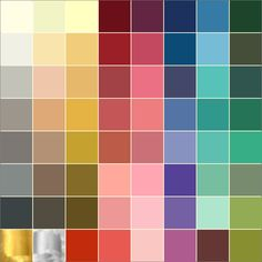 Color Analysis Swatch Soft Autumn Palette Muted