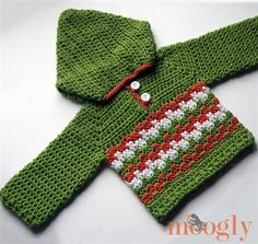 I love this free crochet pattern. Leaping Crochet Baby Hoodie - Media - Crochet Me