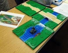 Stack plates for more gradual incline, like beach area Lego Moc, Lego Duplo, Lego Friends Elves, Lego Village, Lego Boards, Amazing Lego Creations, Lego Trains, Lego Military, Lego Modular