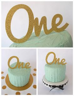 One Cake Topper 1st Birthday Cake Topper First by ChibiChiDesigns