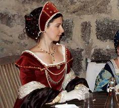 Red renaissance dress
