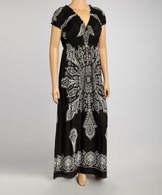 bece69b75cb Black Arabesque Maxi Dress - Plus