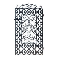 Single Wrought Iron Spanish Revival Gate