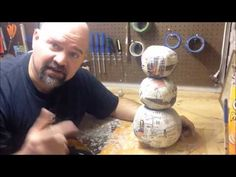 How to make a Twisted Christmas Snowman part two - YouTube