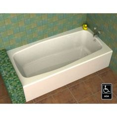 song ak 603014 front apron bathtub with left or right hand drain