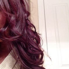 my new hair! burgundy plum :)